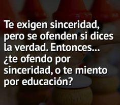 Sinceridad o Educacion