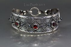 Inspiration-Here I used patterned wire on the outside edges.  It makes the bracelet very strong.