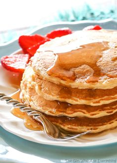 Healthy Oatmeal Pancakes - The Girl Who Ate Everything