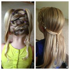 Cute hair styles for little girls. I love doing Sydney's hair :) as long as I put on cartoons she'll sit still long enough for me to do it lol