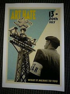 Billy Childish Art Hate What it Means to You! Enhanced pigment print ltd edition