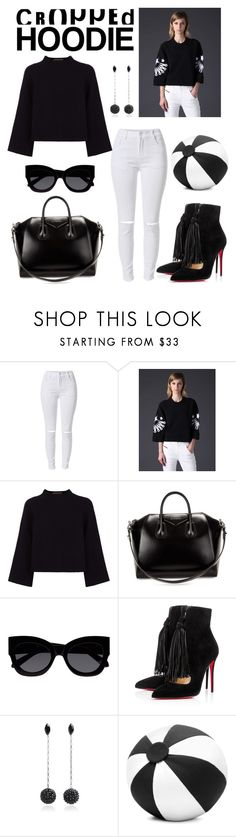 """""""Sem título #364"""" by laura-martini ❤ liked on Polyvore featuring Diesel, Jaeger, Givenchy, Karen Walker, Christian Louboutin, Isabel Marant, SCENERY and CroppedHoodie"""