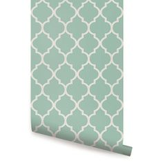 Moroccan Mint Peel & Stick Fabric Wallpaper Repositionable