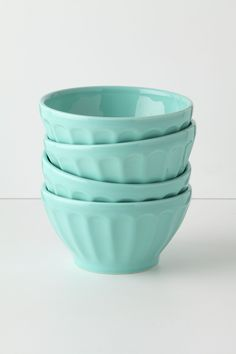 Latte Bowls - Anthropologie.com Turquoise for the kitchen - cute