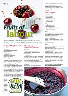 ~ Fruits of labour ~ July - August #locallife #Petersfield #Hampshire #food #cherry #recipes #ideas #inspiration