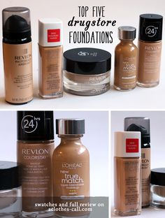 Product Review: Top Drugstore Foundations...ive tried three out of these ones and its true they are awesome for drugstore brands!
