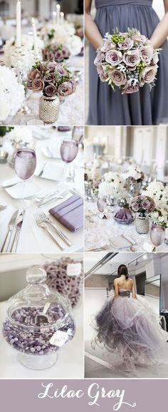 """Lilac Gray Wedding Color Scheme - """"Comfortable and dependable, Niagara leads the PANTONE Fashion Color Report as the most prevalent color for spring Niagara is a classic denim-like blue that speaks to our desire for ease and relaxation."""" Blue is. Gray Wedding Colors, Spring Wedding Colors, Lilac Wedding, Wedding Color Schemes, Fall Wedding, Dream Wedding, Trendy Wedding, Colour Schemes, Spring Colors"""