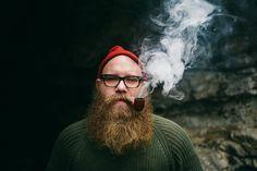 beautiful full thick bushy beard beards bearded man men mens' style mountain pip smoker smoking glasses handsome #beardsforever