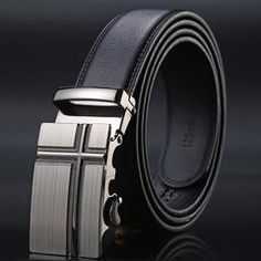 Mens Genuine Leather Luxury Stylish Dressy Evening Wedding Party Ratchet Belt Black or White ~ in Various Sizes