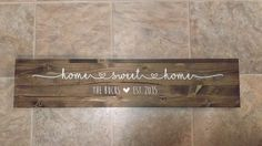 Home Sweet Home, Personalized Wood Sign, Last Name, Marriage Sign, Customized Home Sign
