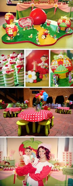 Multi-color decorating for Strawberry Shortcake Party
