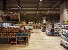 Supermercato Del Futuro store by Milan – Italy Visual Merchandising, Contemporary Architecture, Interior Architecture, Supermarket Design, Urban Park, Branding, Video Wall, Milan Italy, Design Furniture