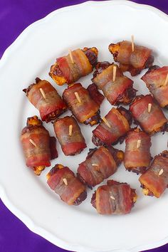blue cheese stuffed bacon-wrapped dates - Gimme Some Oven