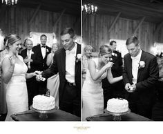 Chicago wedding and engagement photographer, Elizabeth Nord Photography, Q Center wedding ceremony and Abbey Farms reception in St Charles and Aurora, IL  southern charm details cutting the cake