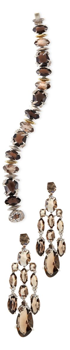 Alexis Bittar Tennis Bracelet and Chandelier Earrings