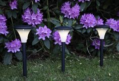 High quality LED yard light with brushed stainless steel finish for a contemporary feel. LED yard light is perfect for lighting up walls, signs and garden features. Garden Lighting Diy, Outdoor Party Lighting, Led Garden Lights, Home Lighting Design, Garden Lamps, Patio Lighting, Landscape Lighting, Solar Lights, Lighting Ideas