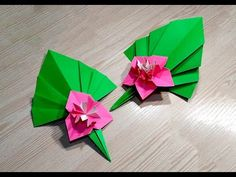 Origami leaf for decor. Easy way to decorate your room. Ideas for Christmas - YouTube