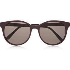 Prism Rio round-frame acetate sunglasses ($405) ❤ liked on Polyvore featuring accessories, eyewear, sunglasses, glasses, accessories - sunglasses, burgundy, round lens glasses, acetate sunglasses, retro style sunglasses and prism eyewear