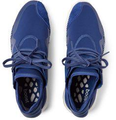 Y-3Retro Boost Suede-Trimmed Neoprene Sneakers
