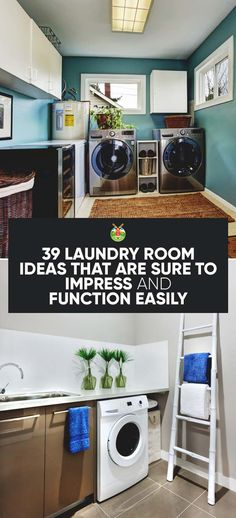 Over 30 different creative laundry room ideas, designs and hacks to help make your laundry adventures a little more pleasant and functional.