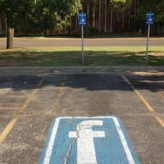 Hmmmmm soon We'll all be carrying fb placards for primo parking.
