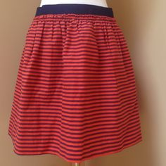 J. Crew Skirt Elastic waist. Size 0. Can easily fit size 2. Comfy and cute. Perfect for summer. Has pockets!! J. Crew Skirts