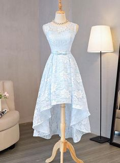 Lovely Light Blue High Low Party Dress 2019, Cute Formal Dress – BeautyDressy