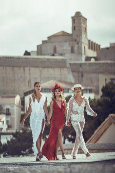 Ibiza Style  Editorial with: Anita Moreno, Barbara Hermosilla, Naiara, Petite Amie (Complements), Katindorfi MakeUp & Ivanna Mestres (dress) Ibiza Fashion, Fashion Shoot, Ibiza Style, Fashion Photography, Editorial, Studio, Makeup, Dresses, Bodas