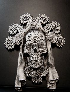 ✯ Dia de los Muertos, White Finish .. by Dellamorte & Co.✯