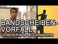 Bandscheibenvorfall  Unterschiede & Symptome