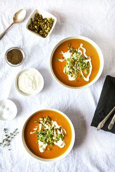 Creamy coconut pumpkin soup