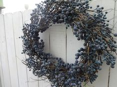 Blue Berry Wreath Faux Wreath Large Wreath Spring and Summer Wreath Front Door Wreath Summer Wreath Summer Wreath - Holiday wreaths christmas,Holiday crafts for kids to make,Holiday cookies christmas, Summer Door Wreaths, Christmas Mesh Wreaths, Wreaths For Front Door, Winter Wreaths, Spring Wreaths, Purple Wreath, Green Wreath, Berry Wreath, Twig Wreath