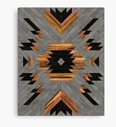 Urban Tribal Pattern - Aztec - Concrete and Wood Wall Tapestry by Zoltan Ratko - Small: x Reclaimed Wood Wall Art, Wood Wall Decor, Wooden Wall Art, Diy Wall Art, Wood Art, Tribal Patterns, Wood Patterns, Design Patterns, Geometric Wall Art