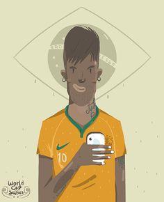 World Cup Selfies 14 by KHALID SHEHATA, via Behance