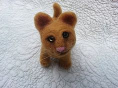 Needle Felted Baby Mountain Lion Soft Sculpture of by MyBuddyBling, $19.00