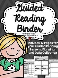 Guided Reading Binder {Running Records, Data Collection, Lesson Plans} In this easy to use Binder you will have 12 pages to use for your Guided Reading/ Intervention Reading Groups/ CAFE Reading Groups for ANY Reading Level or Grade Level.***************************************************************************** Thank you for visiting my store and product!