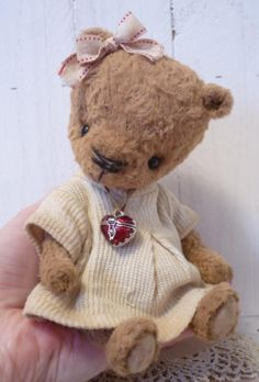 Mary A Darling Little Artist Bear by KristinaBears on Etsy, $125.00