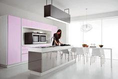 Modern Violet and Pink Kitchen Design