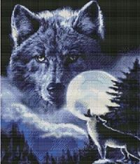 Spirit of the Wolf Cross Stitch K65008