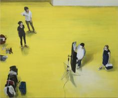 Twin Peaks at Hite Collection /  JINA PARK, Yellow Floor 02, 2015, oil on canvas, 66.9×80.7 in (170×205 cm), Image courtesy the Artist