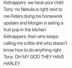 Sorry about the one bad word. Too good to not pin. Marvel 3, Marvel Jokes, Funny Marvel Memes, Dc Memes, Avengers Memes, Disney Marvel, Marvel Avengers, Movies And Series, Loki