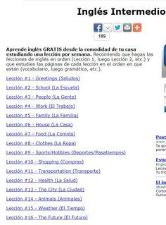 Ingles Intermedio Cursos De Inglés Gratis Cursos De Ingles Gratis Enseñanza De Inglés Ingles Basico Para Niños
