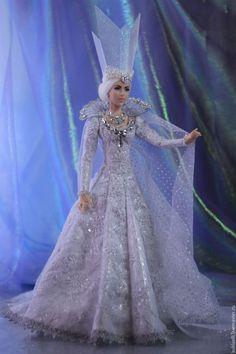 Купить Кукла Снежная королева - белый, снежная королева, кукла снежная королева…