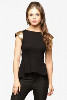 Party in Peplum -Peplum Top sequin