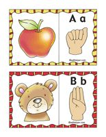 Printable ABC sign language cards from www.edhelper.com