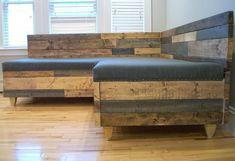 Custom Reclaimed Wood Modern Industrial Sofa - Hammers and Heels - 8