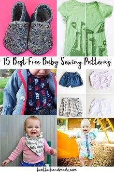 Find the best baby sewing pattern with this fun list of free baby sewing patterns! I've sewn all of these, and I love them! I want to talk about some free baby sewing patterns that I love. I have used all of these for my kids and gifts for friends and recommend each of them! These are the best baby sewing patterns! Which is your favorite free baby sewing pattern? I don't think there's anyone more fun to sew for then little babies. I just love baby sewing projects! Baby Sewing Tutorials, Baby Sewing Projects, Sewing Blogs, Sewing Projects For Beginners, Sewing For Kids, Sewing Patterns Free, Free Sewing, Sewing Ideas, Craft Projects