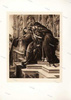 Sandro Botticelli LA Calomnie Original Engraving by Printvilla4you