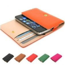 Leather iPhone 4, 4S wallet and cover $24.99
