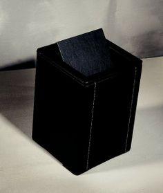 Loft & Bath® Noir > Accessoires Cuir Noir > Poubelle 11,5 litres cuir (sans couvercle)